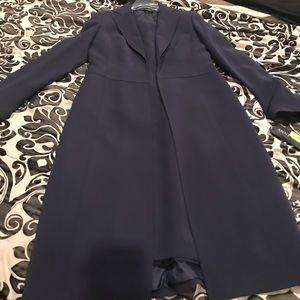 Anne Klein 2 piece navy coat dress. NWT. Size 6